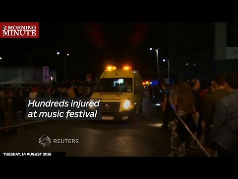 Hundreds injured at music festival