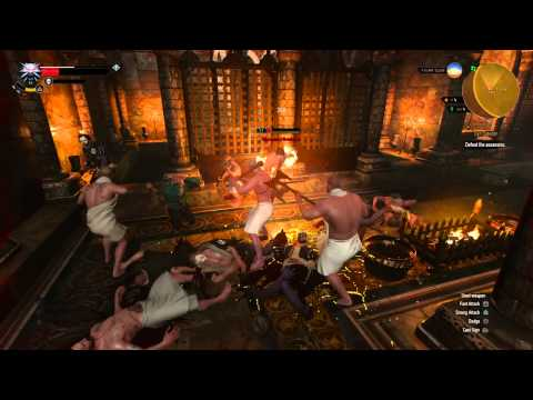 The weirdest (and nude) fight in The Witcher 3: Wild Hunt