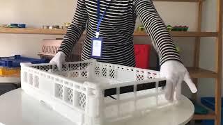 Qiming Packaging Plastic Folding Basket Crate