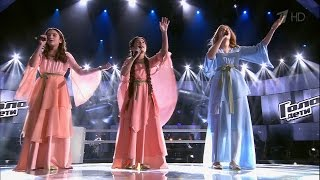 Best battle of The Voice Kids. Renata, Kamilla and Saida  — «Hallelujah» (Russian, English, Arabic)
