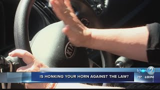 Woman receives $72 ticket after honking her horn at a police vehicle