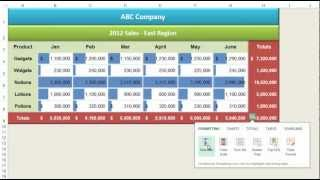 Quick Analysis Tool - Excel 2013