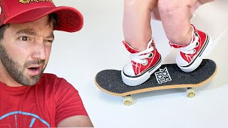 I TRIED FINGERBOARDING SHOES = Hardest Thing Ever