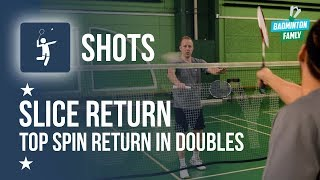 Fast Doubles Service Return, Slice, Top Spin, Badminton