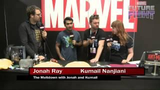 Jonah Ray & Kumail Nanjiani Visit Marvel LIVE! at San Diego Comic-Con 2015