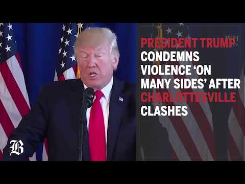 Trump condemns violence 'on many sides' after Charlottesville clashes