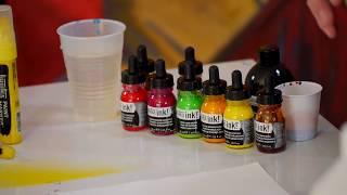 Liquitex Professional Acrylic Ink Demo By Jimmy Leslie - Jerrys Artarama