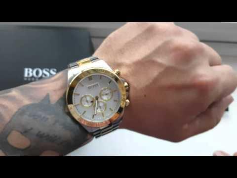 HUGO BOSS Gold and steel  Chronograph