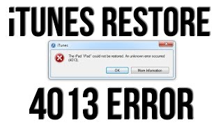 How to Fix iTunes Error 4014/4013 and Upgrade Your iPhone. Blog