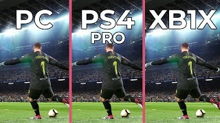 [4K] PES 2019 – PC 4K vs. PS4 Pro vs. Xbox One X Graphics Comparison DEMO
