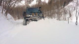 Зимний размаслай г. Быкова Березняки. Suzuki Jimny JB23 TURBO 4x4 ジムニー Japan Style Snow offroad Сах