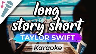 Taylor Swift - long story short - Karaoke Instrumental (Acoustic)