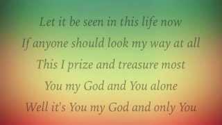 Matt Redman - One Name Alone - (with lyrics)