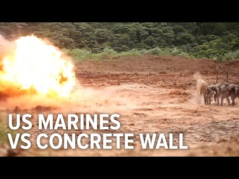 Marines Blowup Concrete Walls Protected Only By A Blanket, Steel Balls