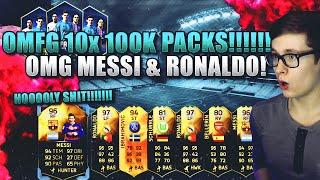 FIFA 16 PACK OPENING DEUTSCH  FIFA 16 ULTIMATE TEAM  OMFG 10x 100K PACKS MESSI & RONALDO