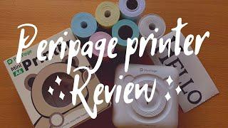 Peripage Mini Printer Review