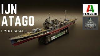 IJN ATAGO. Сборная модель корабля в масштабе 1/700 из  серии World of Warships.  ITALERI 46502 от компании Хоббинет. Сборные модели. - видео