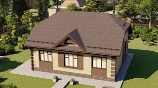 Проект дома 123-C, Площадь дома: 123 м2, Размер дома:  13,2x11,6 м