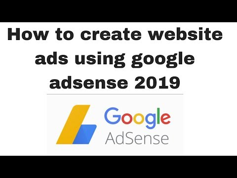 How to create website ads using google adsense 2019