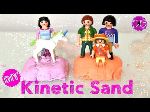 DIY KINETIC SAND - MOON SAND!  EASY RECIPE!