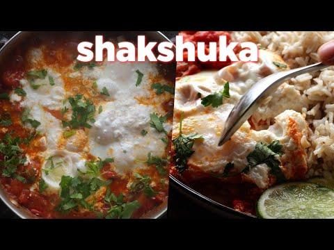 Shakshuka Cooked Eggs In Tomato Recipe