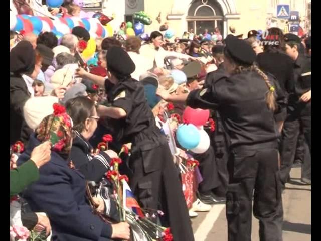 Праздничным шествием началось 9 мая в Ангарске