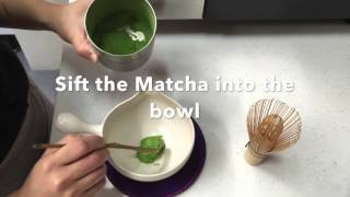 How to whisk your Matcha!