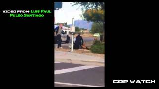 Arizona Cop punches a 15yr old helpless girl in the face 2 times