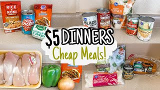 $5 DINNERS | FIVE Quick & Easy Cheap Meals | Julia Pacheco
