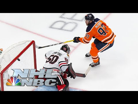 NHL Stanley Cup Qualifying Round: Blackhawks vs. Oilers | Game 2 EXTENDED HIGHLIGHTS | NBC Sports