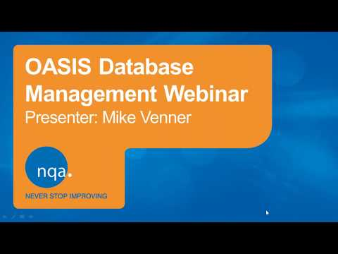 NQA OASIS - How to Use it Effectively Webinar (21st Feb 2019 ...