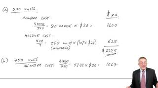 ACCA F2 Inventory Control (part a) The EOQ Formula