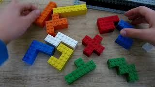 Катамино настольная игра из лего. Игра katamino из лего.