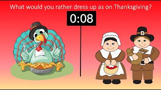 Would You Rather Thanksgiving? Get Kids Moving