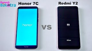 Honor 7C vs Redmi Y2 SpeedTest and Camera Comparison