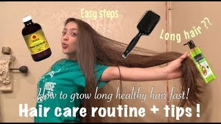 HAIR CARE ROUTINE (HOW TO GET LONG HEALTHY HAIR)