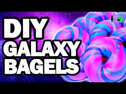 DIY Galaxy Bagels, CORINNE VS COOKING #6