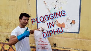 preview picture of video 'PLOGGING in DIPHU TOWN'