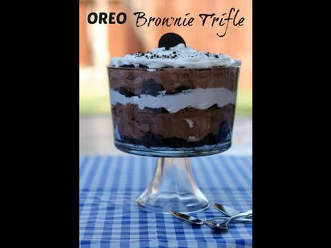 How To Make Oreo Brownie Trifle!