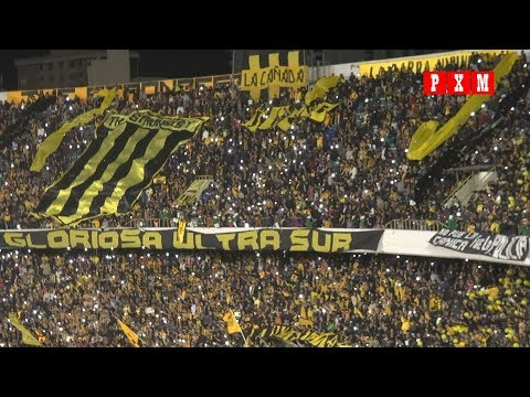 """Recibimiento a The Strongest - Primera final contra Wilstermann (The Strongest 2 - Wilstermann 1)"" Barra: La Gloriosa Ultra Sur 34 • Club: The Strongest • País: Bolívia"