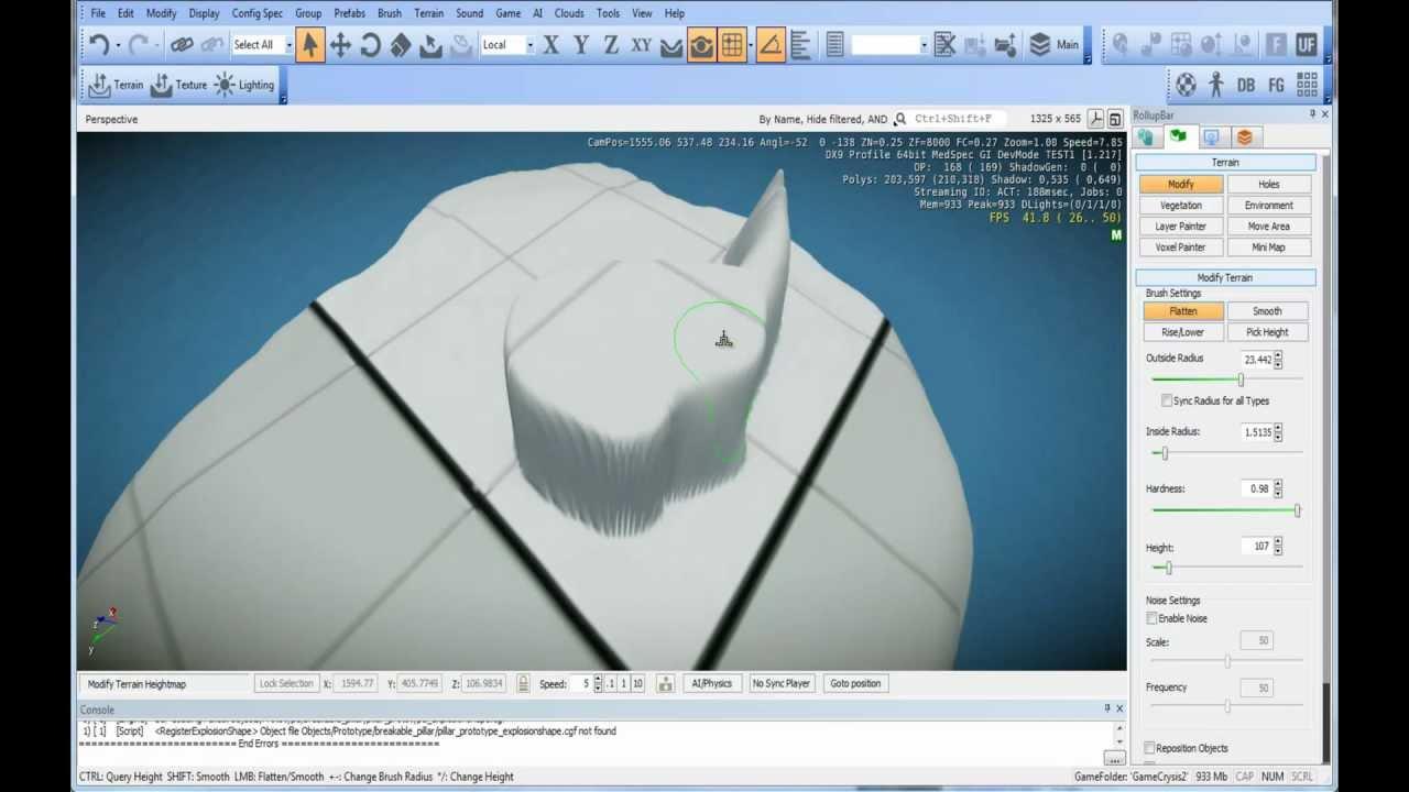 CryEngine 3 Tutorial 1 [Deutsch] - Terrain erstellen