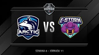 ARCTIC GAMING MX VS ESTORM | Jornada 11 | División de Honor 2019 - Apertura