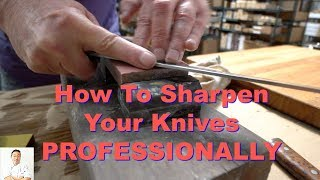 How To Sharpen Your Japanese Knives PROFESSIONALLY