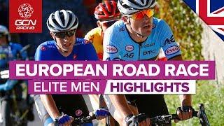 Elite Men's Road Race Highlights | European Championships 2019 | GCN Racing