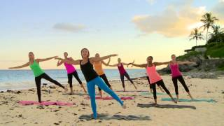 Sunset Beach Barre Workout - Part 1 - Thighs, Glutes, Arms, & Love Handles by Bermuda Pilates & Barre With Liz Laing