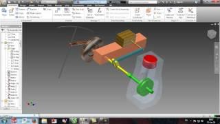 Video Mô phỏng chuyển động cơ bản của cơ cấu ôtô inventor