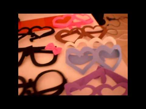Tutorial de gafas de goma eva para fiestas
