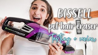 Bissell Pet Hair Eraser Handheld Cordless Vacuum Review || Couch Deep Clean With Me