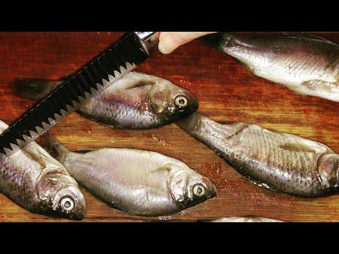 как пожарить рыбу карасей без костей, 2 способа жарки