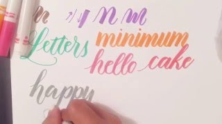 Tutorial: How to Use Regular Crayola Markers to Write Modern Brush Calligraphy